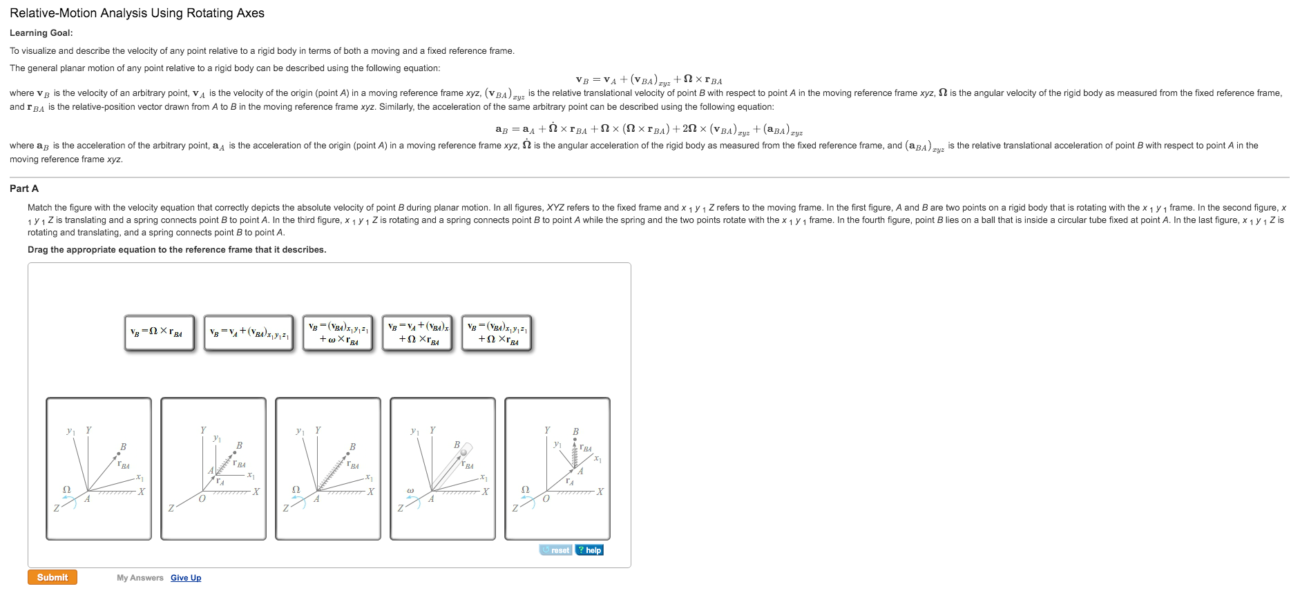 Solved: To Visualize And Describe The Velocity Of Any Poin ...