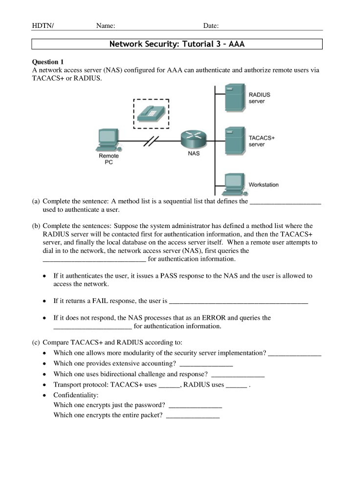 Solved: Cisco Network Security - Topic: AAA Please Help To