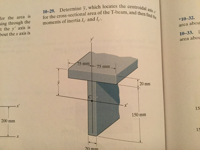10 29 Determine Y Which Locates The Centroid All
