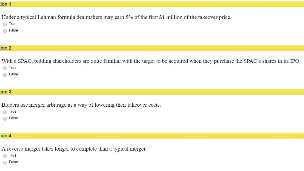 Solved: Ion 1 Under A Typical Lehman Formula Dealmakers Ma