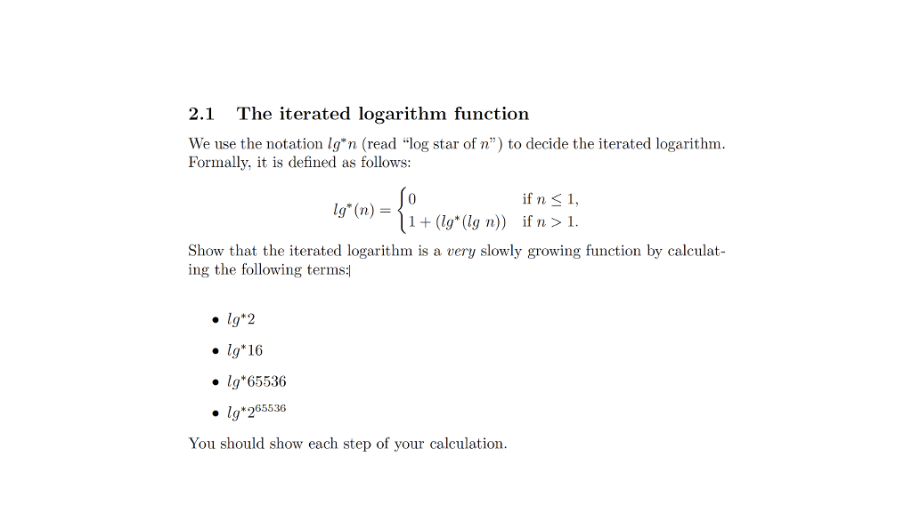 Computer science archive july 17 2017 chegg 21 the iterated logarithm function we use the notation ign read log star of n sciox Image collections