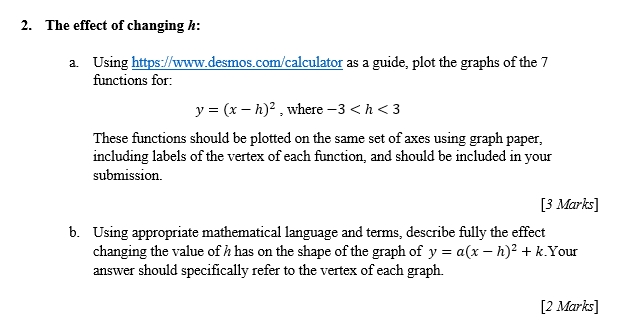 Solved Quadratic Functions Can Be Written In The Form Y