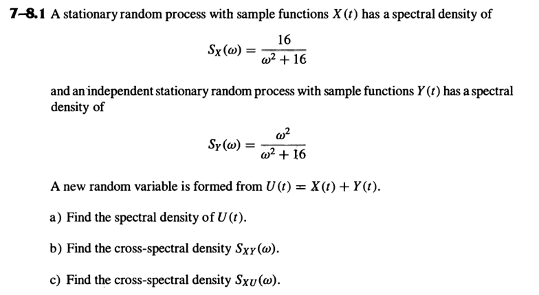 A Stationary Random Process With Sample Functions ... | Chegg.com
