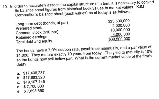 capital structure questions and answers pdf