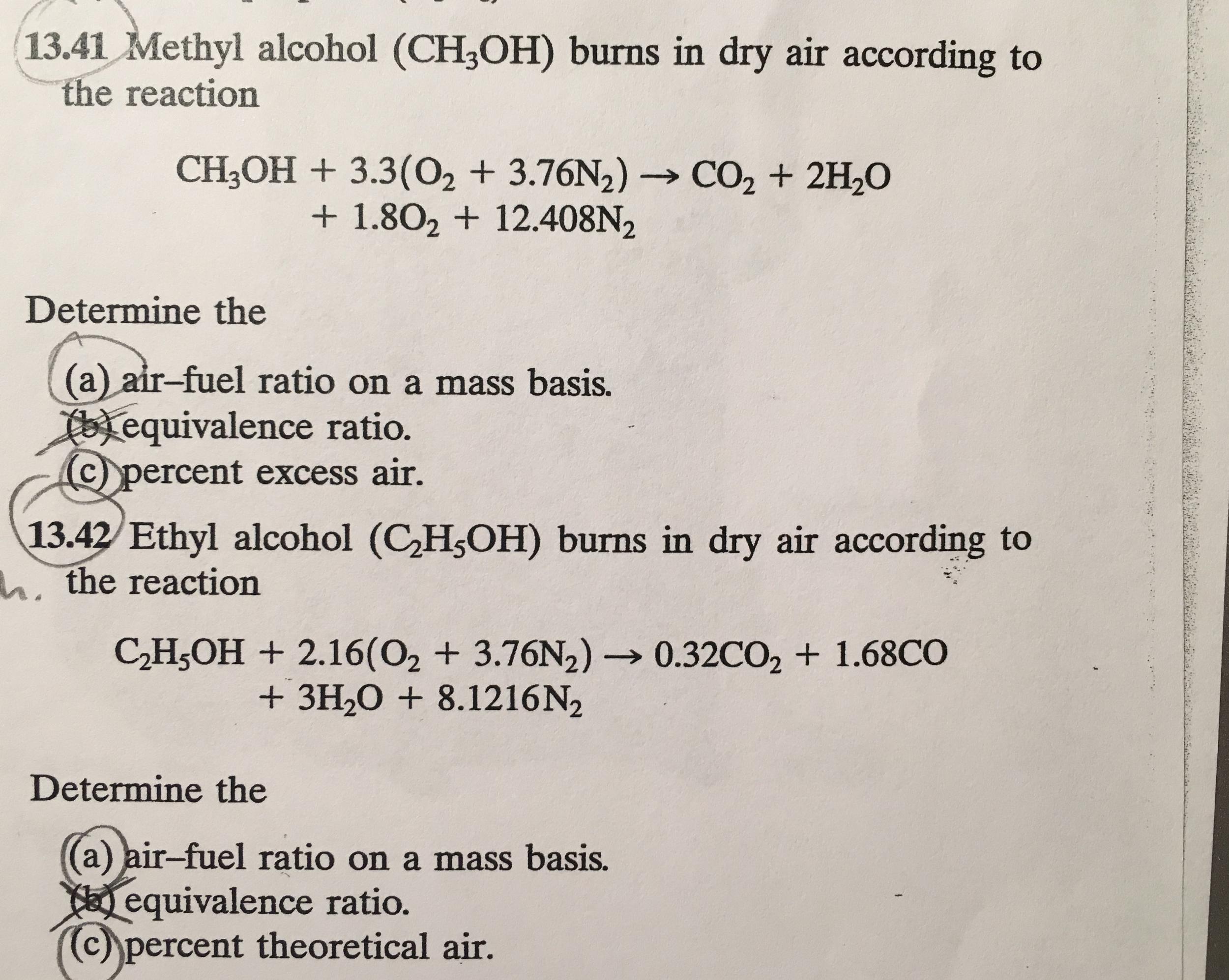 Methyl Alcohol (CH_3 OH) Burns In Dry Air Accordin    | Chegg com