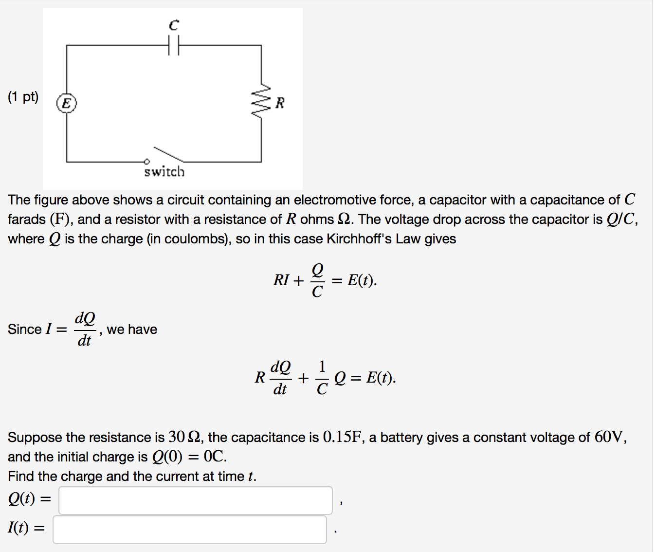 Solved The Figure Above Shows A Circuit Containing An Ele Circuits With Multiple Batteries Please Answer Tho Cheggcom Question Electromotive Force Capacitor Capacitanc