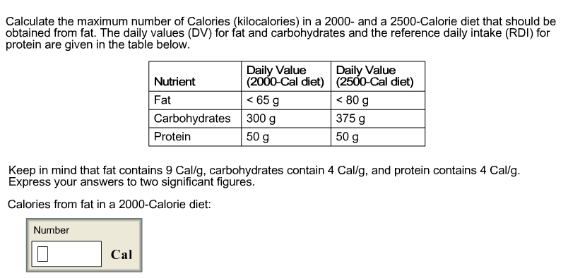 protein rda for a 2000 calorie diet