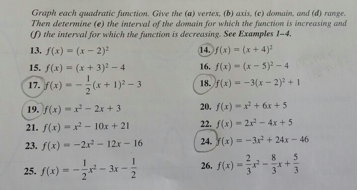 how to find the vertex of a quadratic function