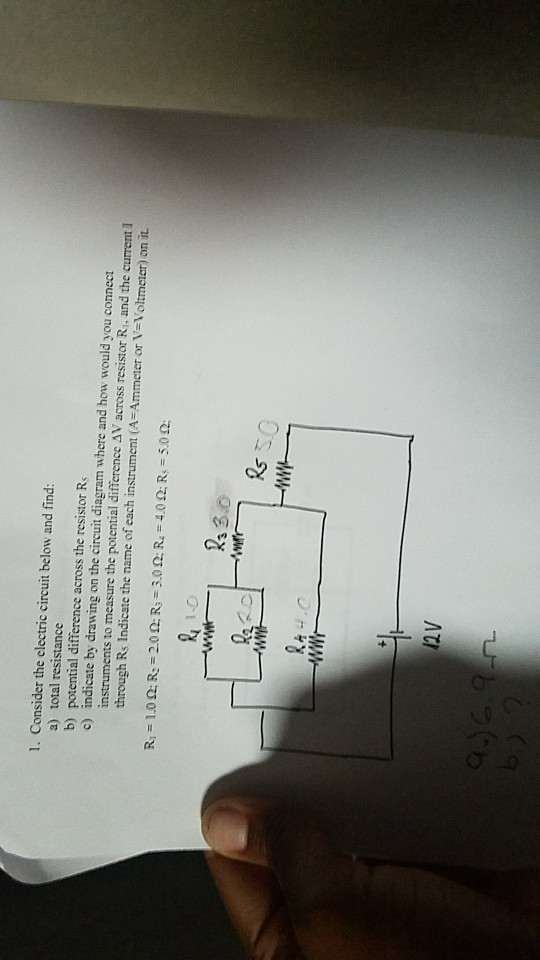 Solved: 1. Consider The Electric Circuit Below And Find: A ... on sub control diagram, dual voice coil speaker diagram, sub controller diagram, sub flooring diagram, amp diagram, subwoofer diagram, sub assembly diagram, power diagram, radio diagram, sub pump diagram,