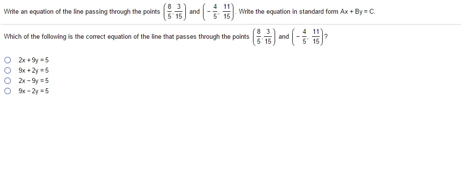 Solved Write An Equation Of The Line Passing Through The