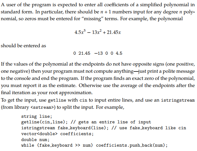 Solved Write C Program Which Approximates One Root Of A