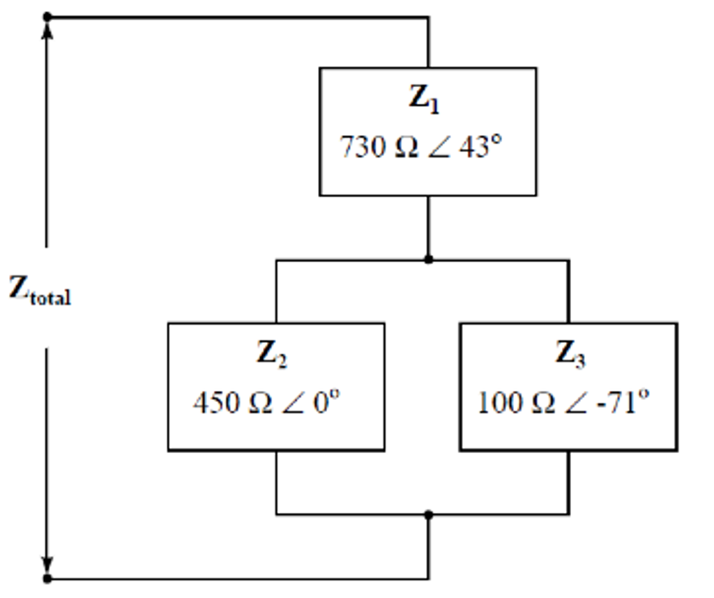 Solved: Q5 Calculate The Total Impedance Of This Series-pa