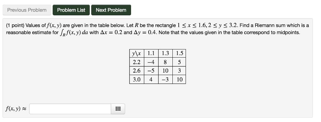 Solved Previous Problem Problem Listnext Problem 1 Point