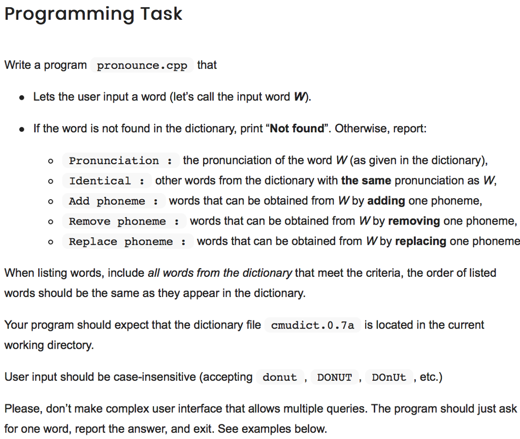 Write a C++ program that does the task given (the  Chegg.com