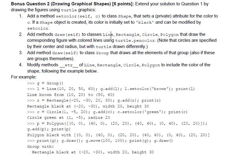 Python Question Extend Question! Import Math Class    | Chegg com