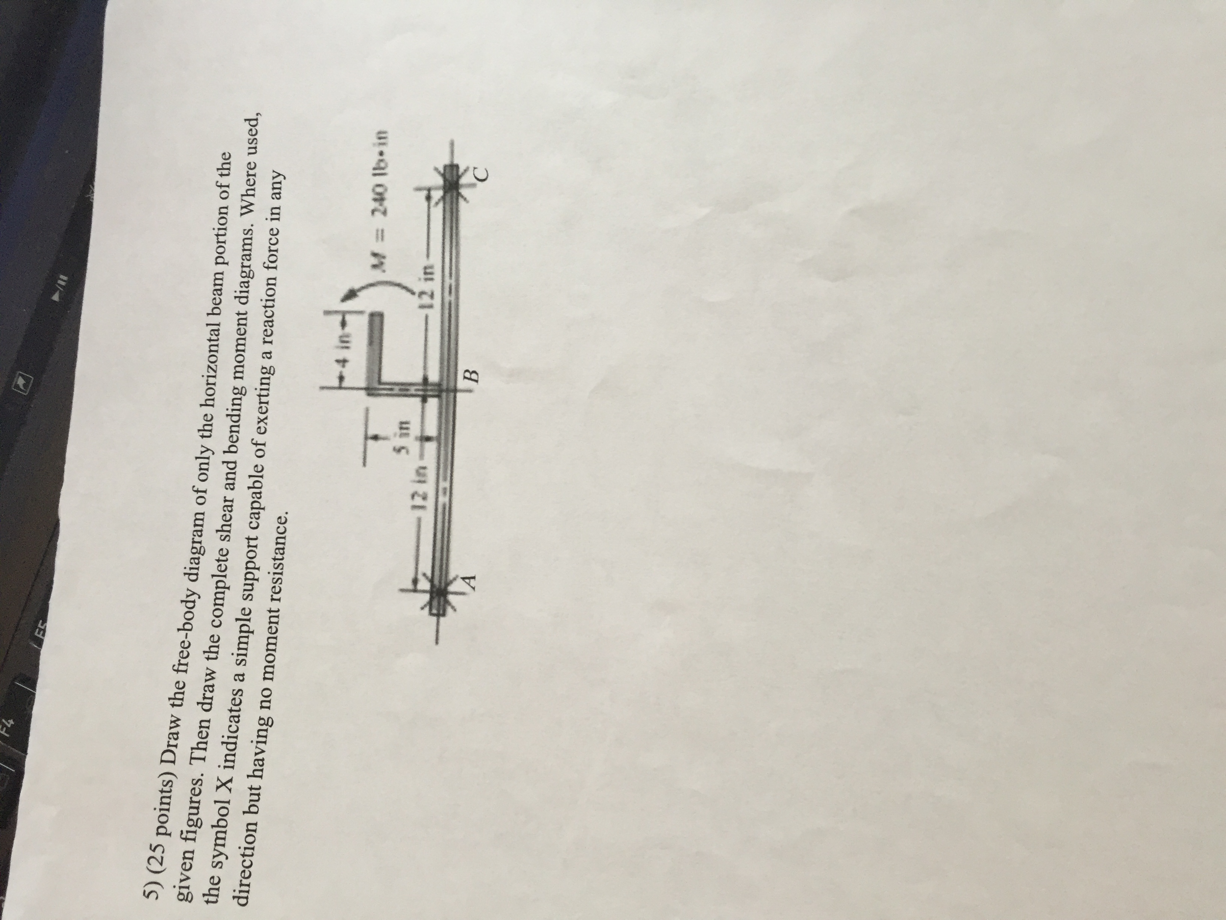 Pin Connected Beam Shear Diagram Electrical Wiring Moment Cantilever Mechanical Engineering Archive October 10 2015 Chegg Com Draw The