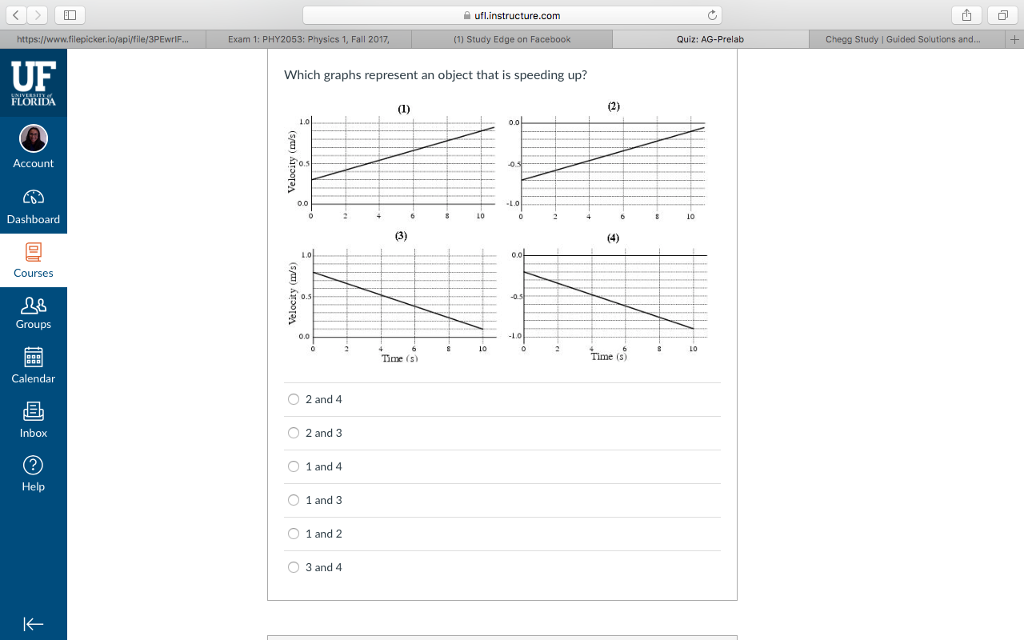 Solved: Ufl instructure com |山 Exam 1: PHY2053: Physics 1