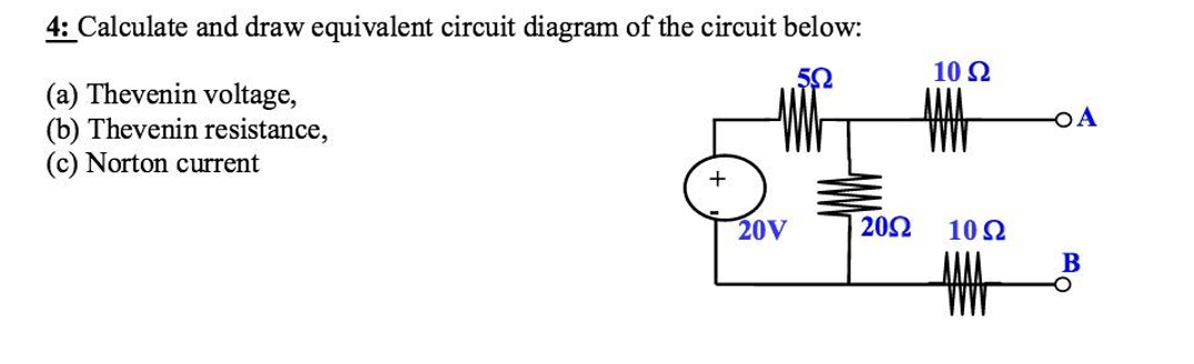 Solved calculate and draw equivalent circuit diagram of t calculate and draw equivalent circuit diagram of t ccuart Images