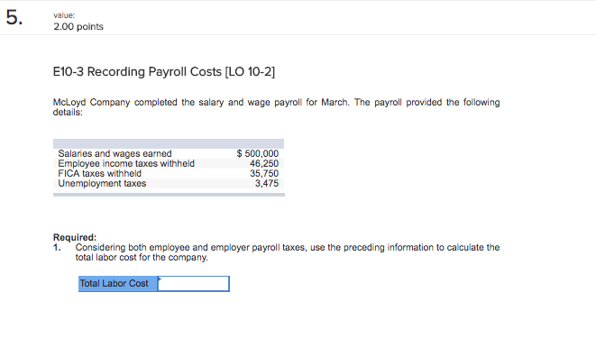 solved 1 considering both employee and employer payroll