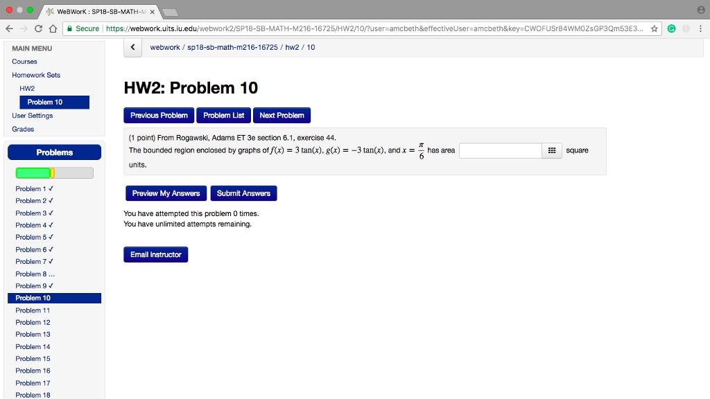 Solved: WeBWorK : SP18-SB-MATH-M × . C } E Secure Https ...