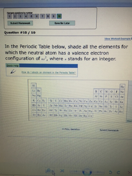 Solved in the periodic table below shade all the element image for in the periodic table below shade all the elements for which the neutral urtaz Images