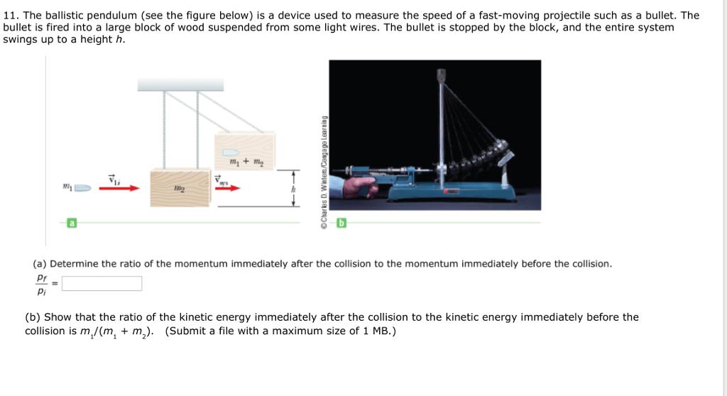 Solved: 11  The Ballistic Pendulum (see The Figure Below