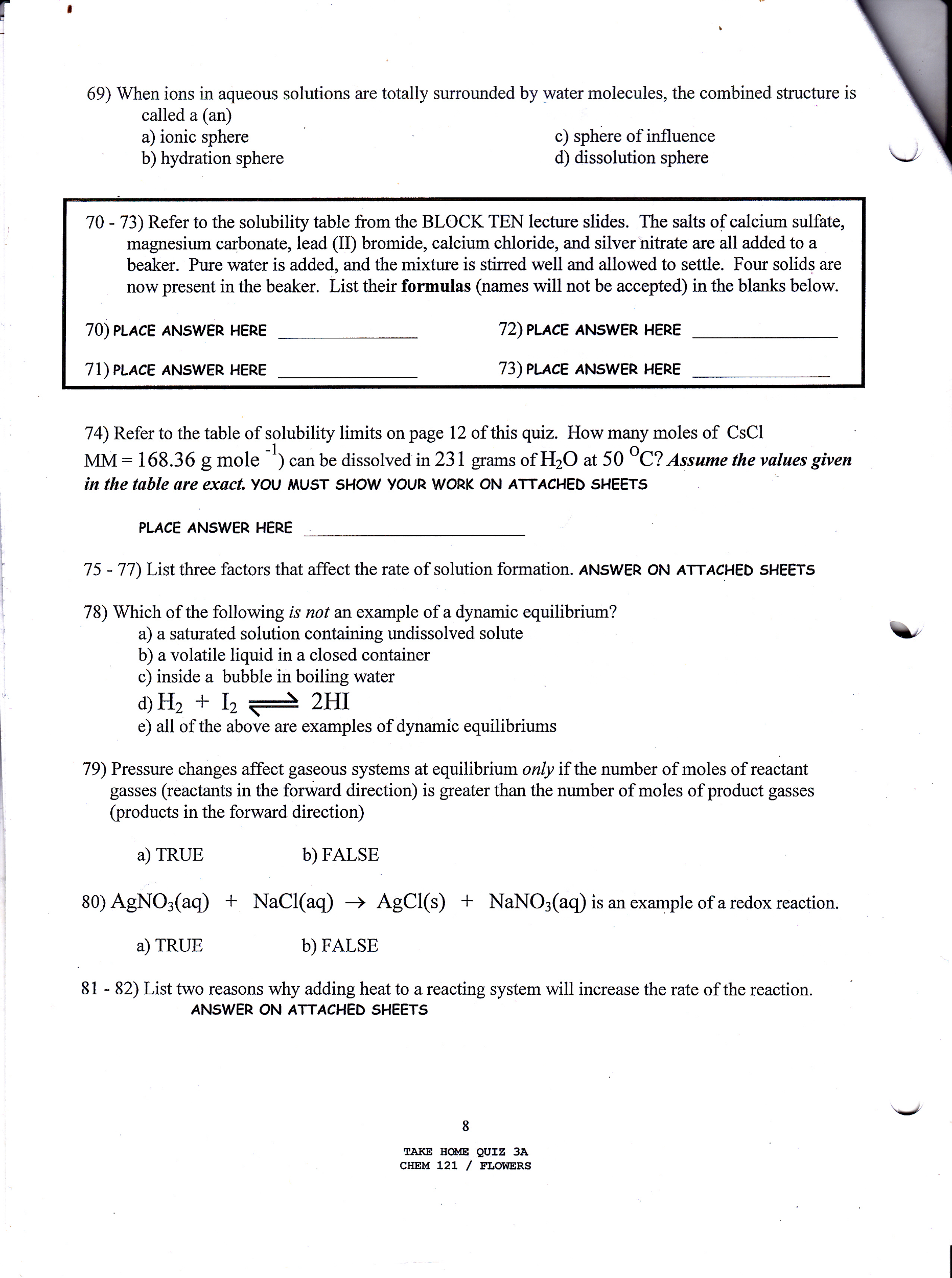 chemistry archive com when ions in aqueous solutions are totally surrounded by water molecules the combined structure is called a an refer to the solubility table from the