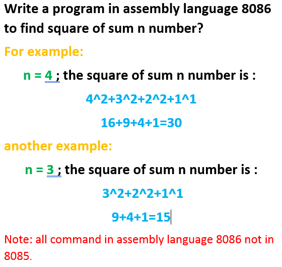Solved: Write A Program In Assembly Language 8086 To Find