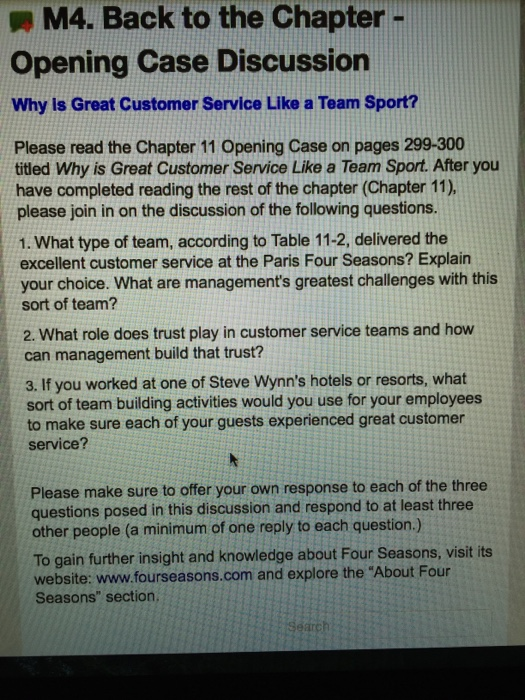 e5949acbfdf Solved: Why Is Great Customer Service Like A Team Sport? W ...