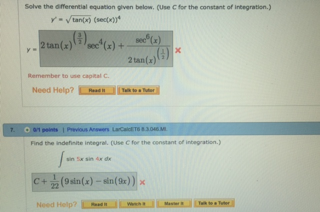 Solved: Solve The Differential Equation Given Below. (Use ...