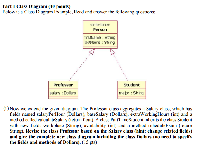 Solved below is a class diagram example read and answer question below is a class diagram example read and answer the following questions now we extend the giv ccuart Image collections