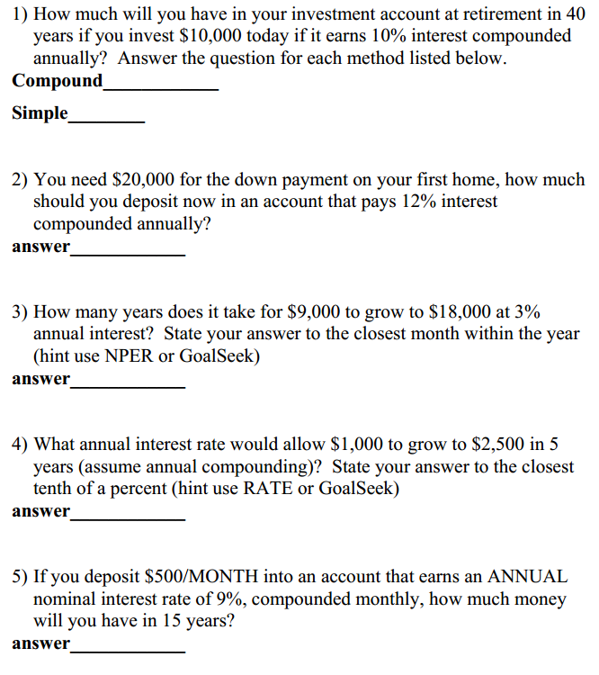 Solved For These Problems Show The Cash Flow Diagram And