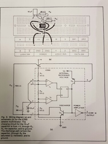 solved 10 af wiring diagram (s) and schematic (b) for the Interior Wiring Diagram 10 af wiring diagram (s) and schematic (b) for the ic555 8stable