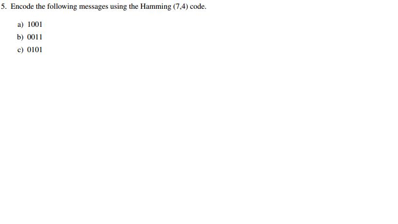 Solved: Math Linear Algebra : Error-Detecting And Error-Co