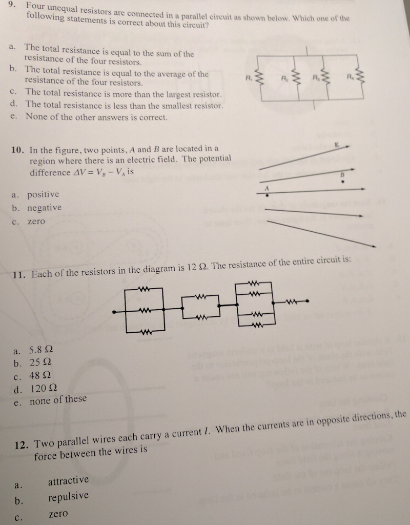 Solved Four Unequal Resistors Are Connected In A Parallel Total Resistance Series Circuit How Can The