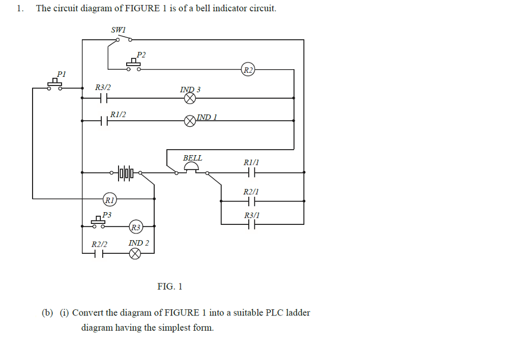 Indicator Circuit Diagram | Solved The Circuit Diagram Of Figure 1 Is Of A Bell Indic