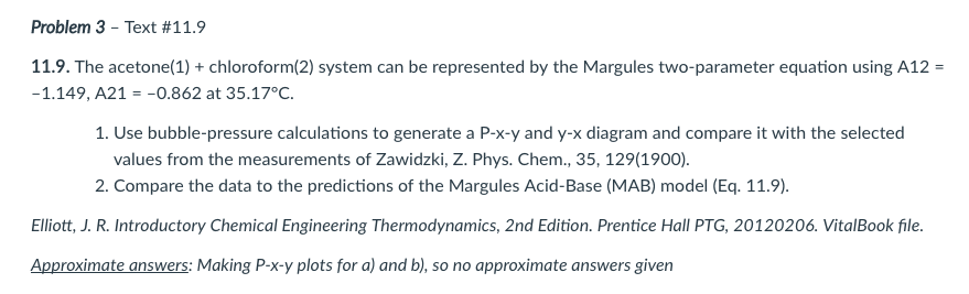 Problem 3-Text #11 9 11 9  The Acetone(1) + Chloro