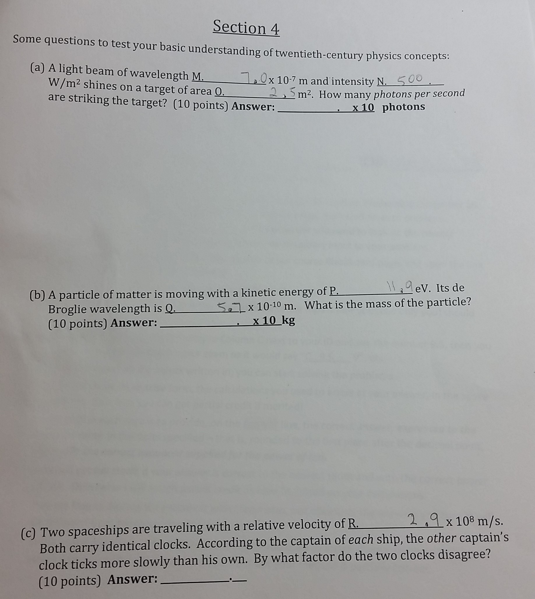 Solved Please Help My Physics Assignment Thoroughly Step  Section  Some Questions To Test Your Basic Understanding Of  Twentiethcentury Physics Concepts