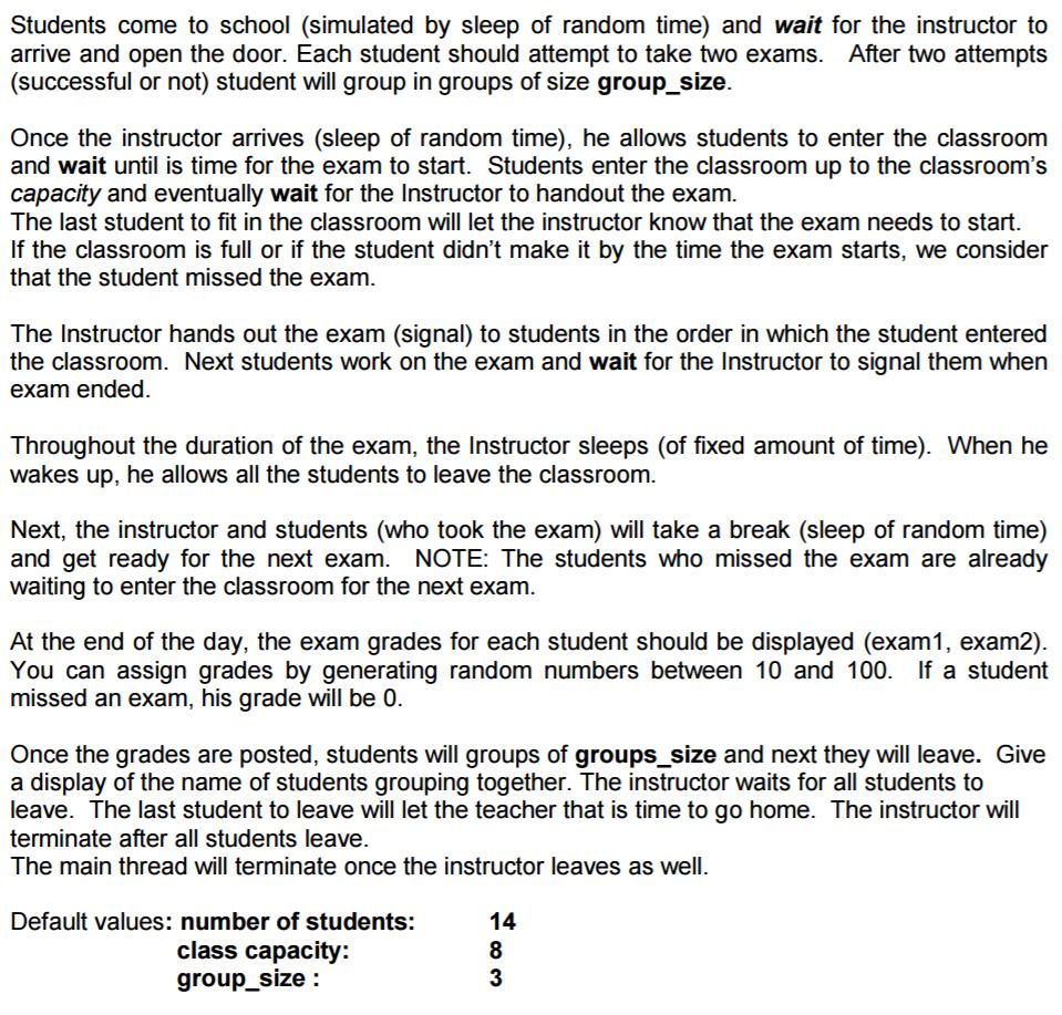 Solved: WRITE A PSEUDO-CODE SOLUTION USING SEMAPHORES Do N