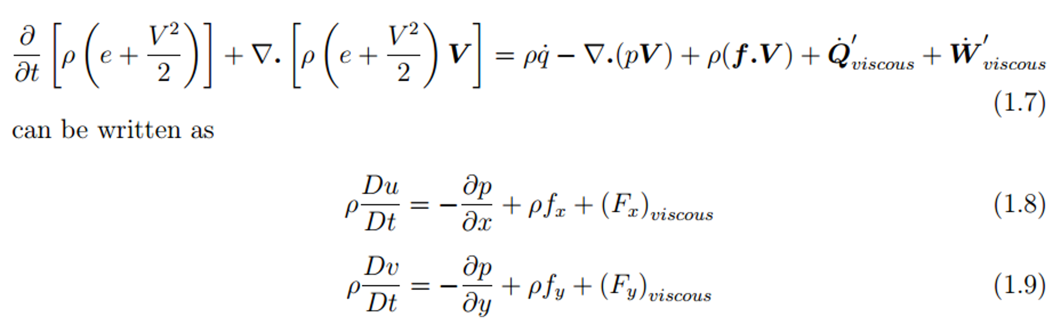 Fluid Dynamics, Conservation Of Mass, Conservation