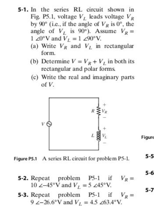 Solved: 5-1. In The Series RL Circuit Shown In Fig, P5.1 ...