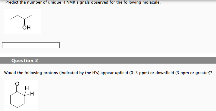 Solved: Predict The Number Of Unique H NMR Signals Observe
