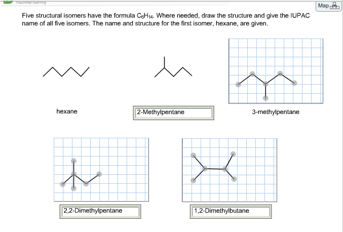 Solved Five Structural Isomers Have The Formula C6h14 Wh