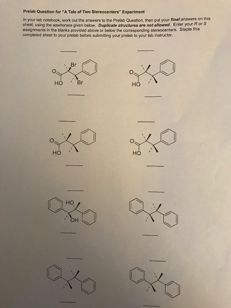 Prelab Question for A Tale of Two