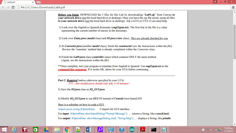 Do my homework java