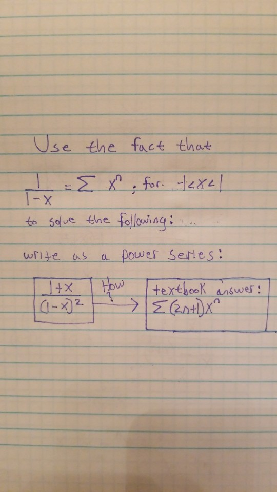Solved: Calculus 2: Power Series I Have The Textbook Answe