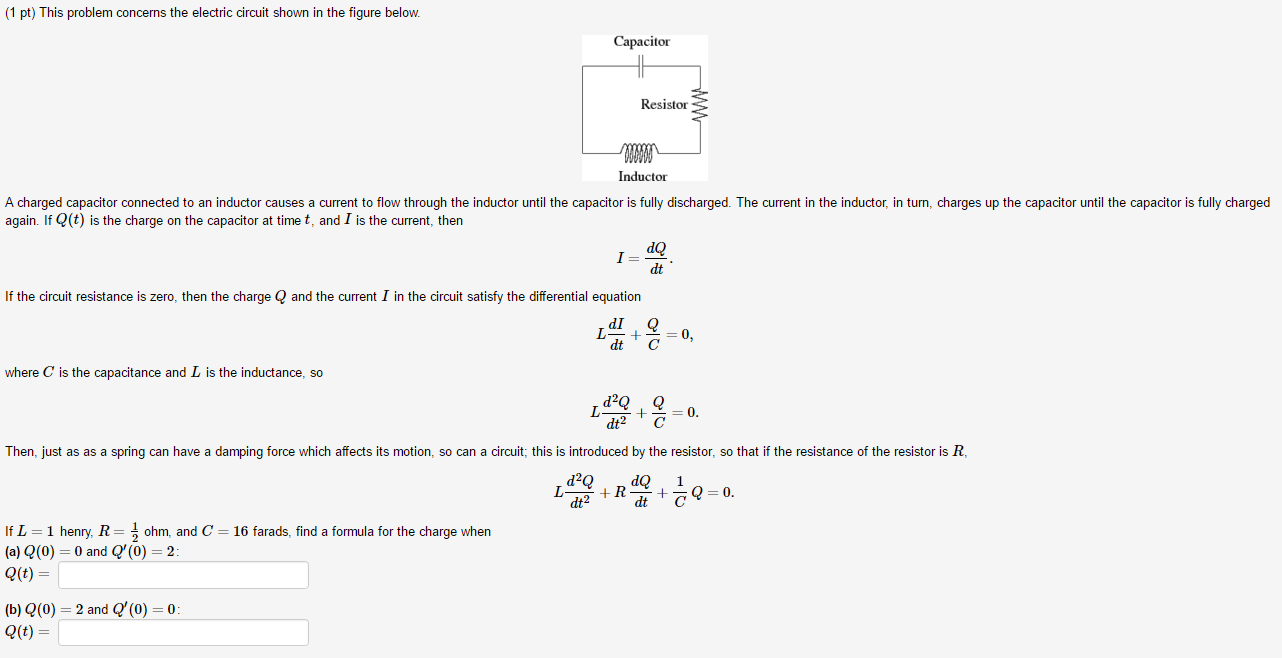 Solved 1 Pt This Problem Concerns The Electric Circuit Diagram Resistance Calculator Shown In Figure Below