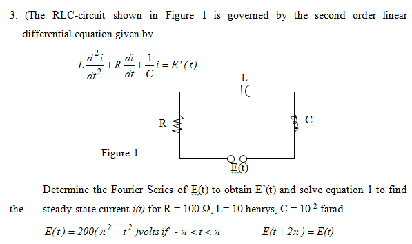 Superb Application Of Ordinary Differential Equations Series Rl Circuit Wiring Database Wedabyuccorg