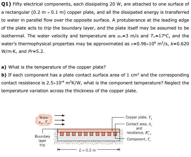 Solved: Q1) Fifty Electrical Components, Each Dissipating ...