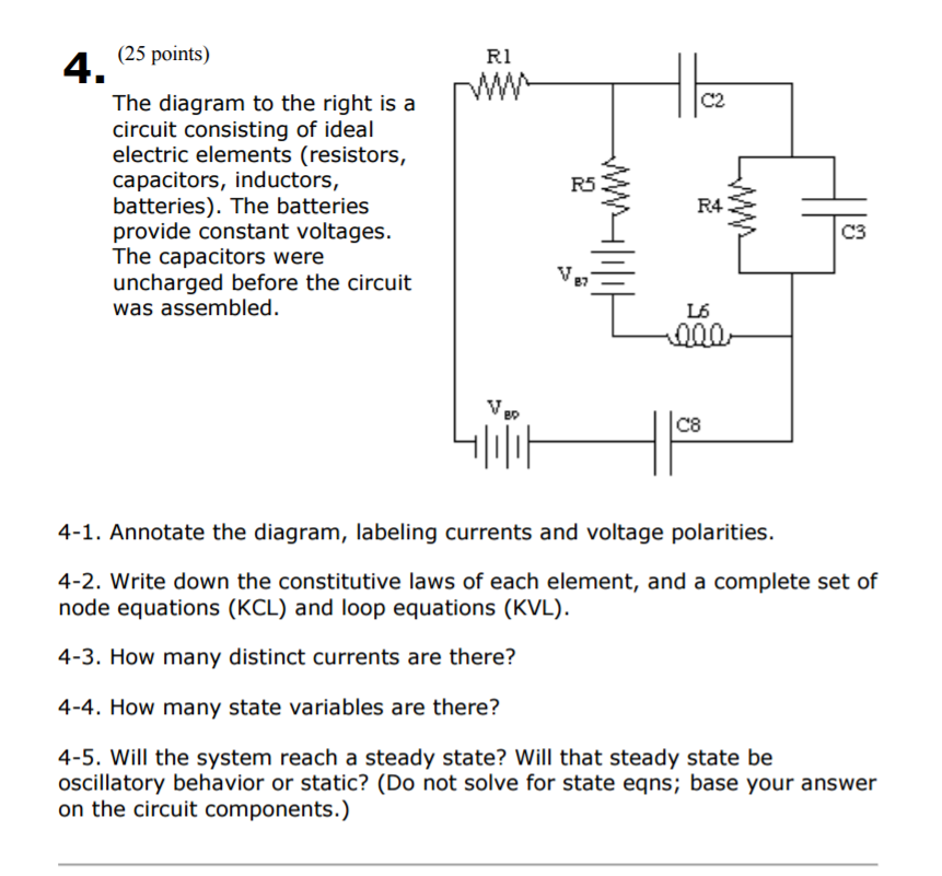 Solved: The Diagram To The Right Is A Circuit Consisting O ...